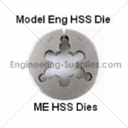 Picture of ME Model Engineer HSS Circular Dies Right Hand